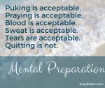 How do you mentally prepare?